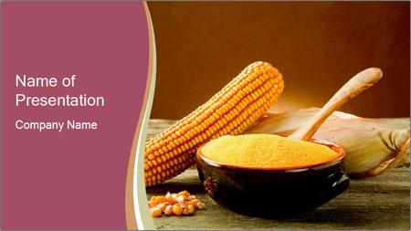 Maize flour PowerPoint Template