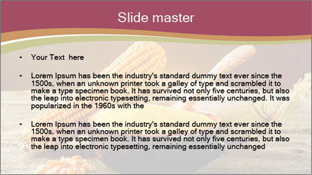 Maize flour PowerPoint Template - Slide 2