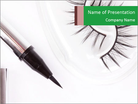 Set of eyelashes PowerPoint Template