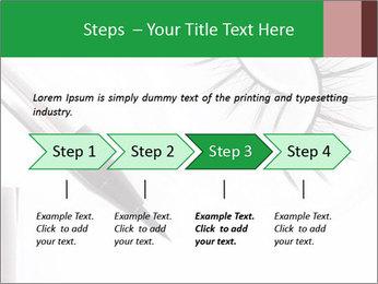 Set of eyelashes PowerPoint Template - Slide 4
