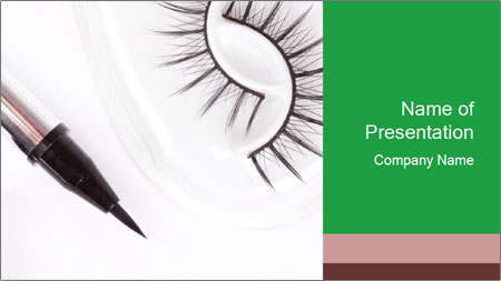 Set of eyelashes PowerPoint Template
