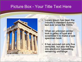 Facade of ancient temple PowerPoint Template - Slide 13