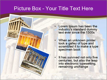 Facade of ancient temple PowerPoint Template - Slide 17