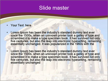 Facade of ancient temple PowerPoint Template - Slide 2