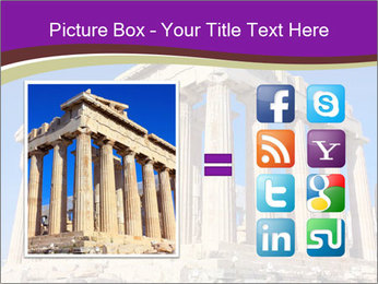 Facade of ancient temple PowerPoint Template - Slide 21