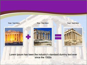 Facade of ancient temple PowerPoint Template - Slide 22