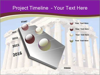 Facade of ancient temple PowerPoint Template - Slide 26