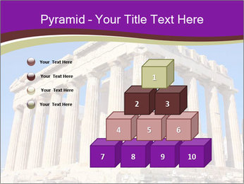 Facade of ancient temple PowerPoint Template - Slide 31