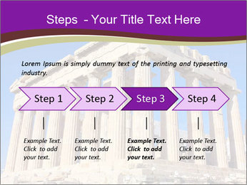 Facade of ancient temple PowerPoint Template - Slide 4