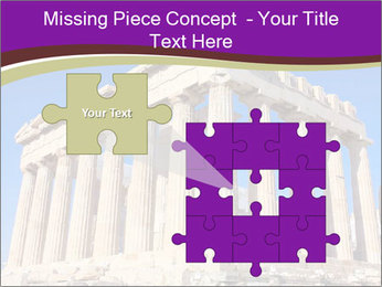 Facade of ancient temple PowerPoint Template - Slide 45