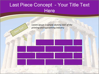Facade of ancient temple PowerPoint Template - Slide 46