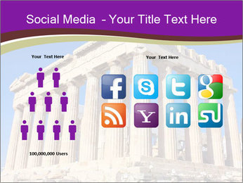 Facade of ancient temple PowerPoint Template - Slide 5