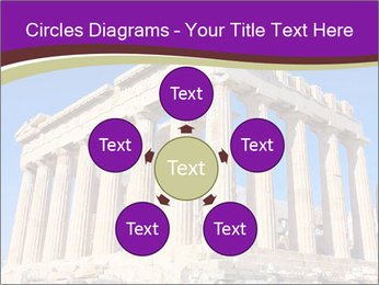 Facade of ancient temple PowerPoint Template - Slide 78