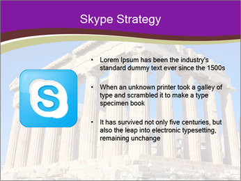 Facade of ancient temple PowerPoint Template - Slide 8