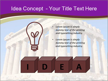 Facade of ancient temple PowerPoint Template - Slide 80