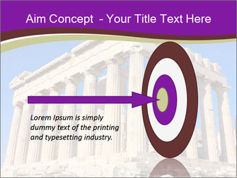 Facade of ancient temple PowerPoint Template - Slide 83