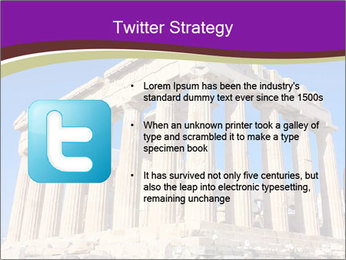 Facade of ancient temple PowerPoint Template - Slide 9