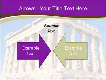 Facade of ancient temple PowerPoint Template - Slide 90