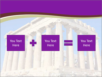 Facade of ancient temple PowerPoint Template - Slide 95