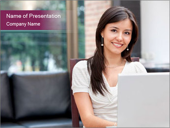 Woman working PowerPoint Template