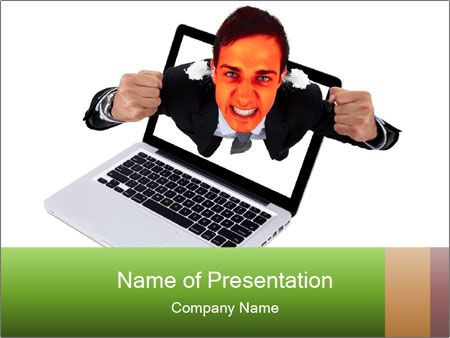 Angry man PowerPoint Templates