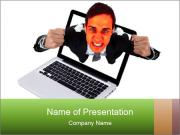 Angry man PowerPoint Template