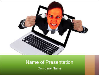 Angry man PowerPoint Templates - Slide 1