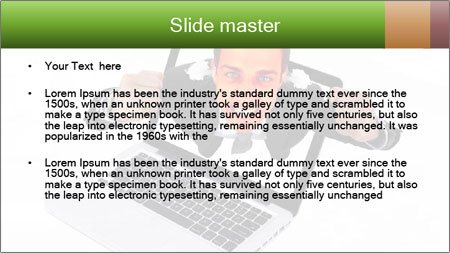 Angry man PowerPoint Template - Slide 2