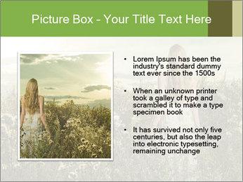Girl in field PowerPoint Template - Slide 13