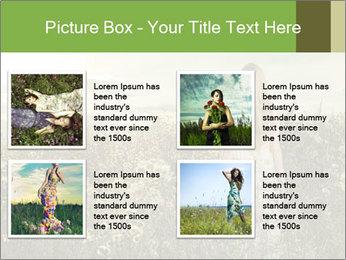 Girl in field PowerPoint Template - Slide 14
