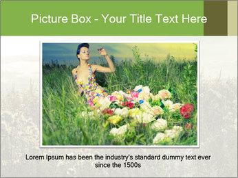 Girl in field PowerPoint Template - Slide 15