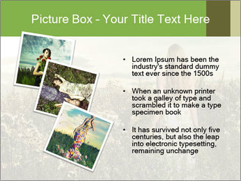 Girl in field PowerPoint Template - Slide 17
