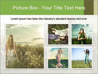 Girl in field PowerPoint Template - Slide 19