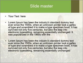 Girl in field PowerPoint Template - Slide 2