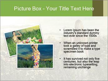 Girl in field PowerPoint Template - Slide 20