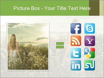 Girl in field PowerPoint Template - Slide 21