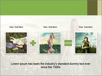 Girl in field PowerPoint Template - Slide 22