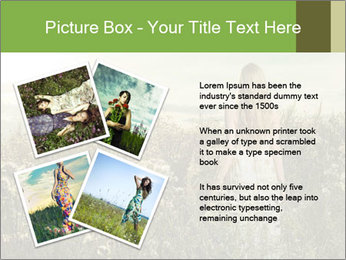 Girl in field PowerPoint Template - Slide 23