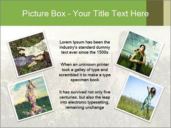 Girl in field PowerPoint Template - Slide 24