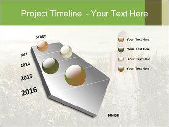 Girl in field PowerPoint Template - Slide 26
