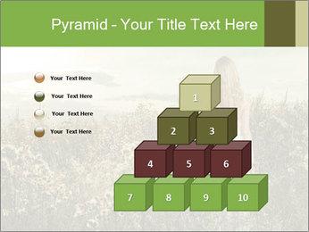 Girl in field PowerPoint Template - Slide 31