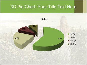 Girl in field PowerPoint Template - Slide 35
