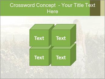 Girl in field PowerPoint Template - Slide 39