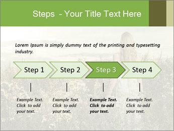Girl in field PowerPoint Template - Slide 4