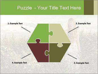 Girl in field PowerPoint Template - Slide 40