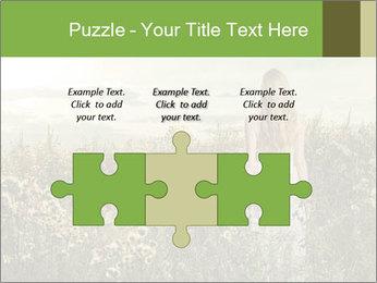 Girl in field PowerPoint Template - Slide 42
