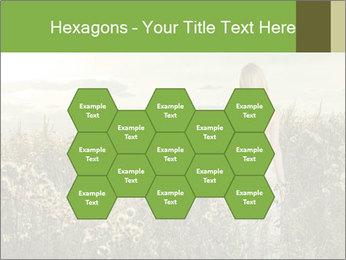Girl in field PowerPoint Template - Slide 44