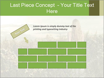 Girl in field PowerPoint Template - Slide 46