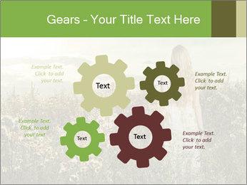 Girl in field PowerPoint Template - Slide 47