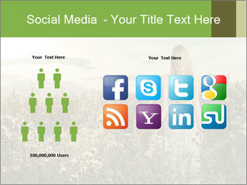 Girl in field PowerPoint Template - Slide 5